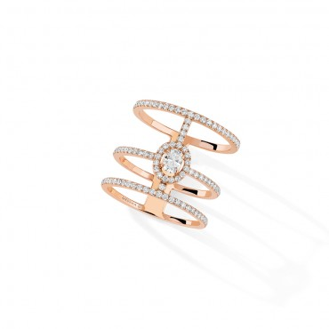 Messika, Glam'Azone 3 Rows Pavé Diamond Ring