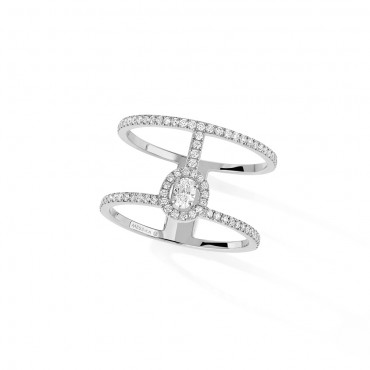 Messika, Glam'Azone 2 Rows Pavé Diamond Ring